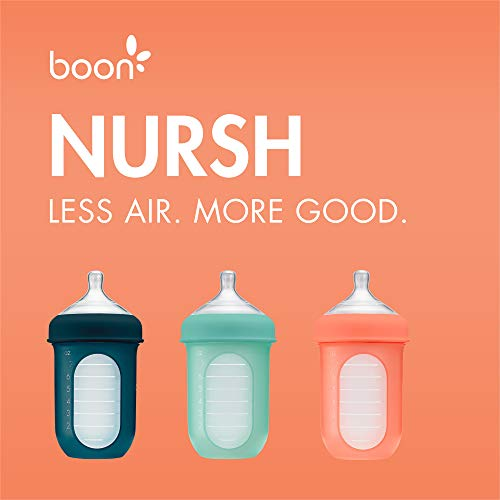 4195DmOI8IL - Boon NURSH Reusable Silicone Pouch Bottles, 8 Ounce (Pack Of 3)