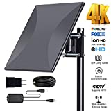 Omni-Directional Outdoor Amplified HD Digital TV Antenna 150 Miles Range with Powerful HDTV