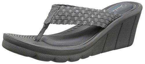 7b11db1ce03c Skechers Cali Women s Promenade Interlace Wedge Sandal - Import It All