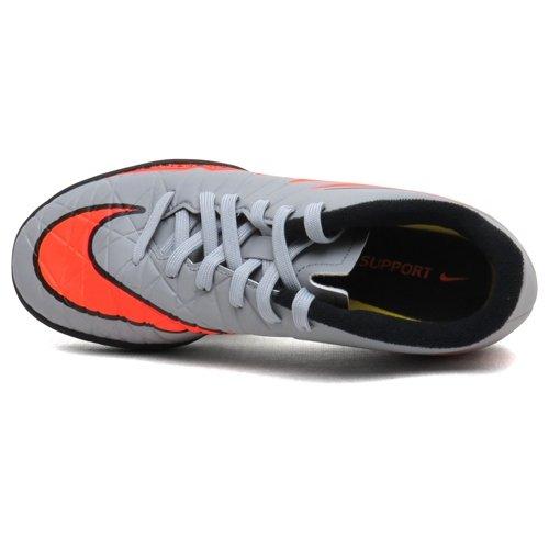 Nike Unisex-Kinder Hypervenom Phelon II TF Fußballschuhe wolf grey-total orange-black-black (749922-080)