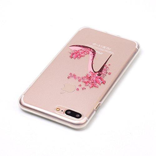 Voguecase® für Apple iPhone 7 Plus 5.5 hülle, Schutzhülle / Case / Cover / Hülle / TPU Gel Skin (Rot Schuhe mit hohen Absätzen) + Gratis Universal Eingabestift