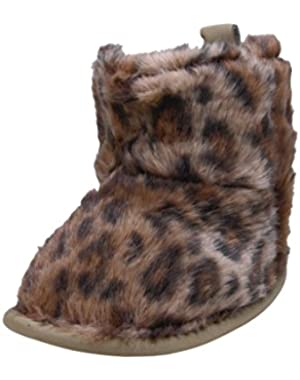 Baby Girls Cheetah Print Soft Sole Fur Boots by Carters