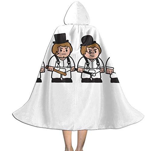Droog Halloween Costume (SEDSWQ Mitesized Droogs A Clockwork Orange Unisex Kids Hooded Cloak Cape Halloween Xmas Party Decoration Role Cosplay)