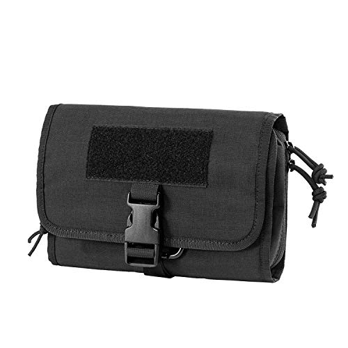 Price comparison product image OneTigris Multiuse Daily Pouch Portable Travel Organizer with Adjustable Quick Release UTX Buckle and Carabiner for Hanging (Black)