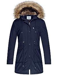 WenVen Women's Windproof Sherpa Lined Parka Jacket