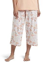 Hue Womens Printed Knit Capri Pajama Sleep Pant Pajama Bottom