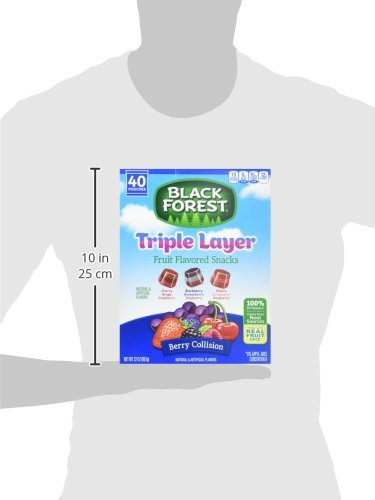 Black Forest Triple Layer Berry Collision Fruit Snacks, 0.8 Ounce - 240 per case.