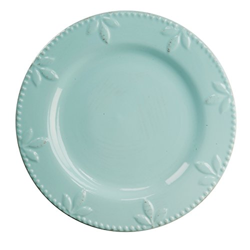 Signature Housewares 4 Piece Sorrento Collection Stoneware Dinnerware Set, Aqua Blue