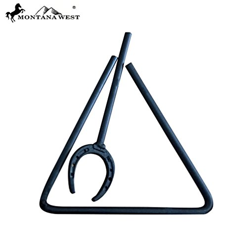 Montana West Rustic Metal Triangle Dinner Bell ()