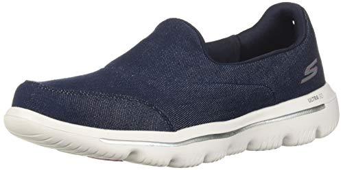 (Skechers Women's GO Walk Evolution ULTRA-15739 Sneaker Navy/White 7 M US)