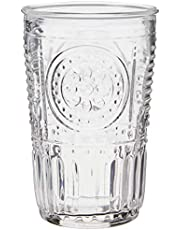 Bormioli Rocco Romantic Water Glass, 11 1/2 oz., Set of 6 , Clear