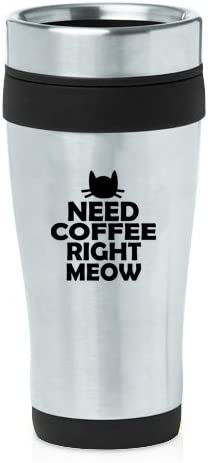 Stainless Steel Insulated 16 oz Travel Coffee Mug Cup Real Men Love Cats
