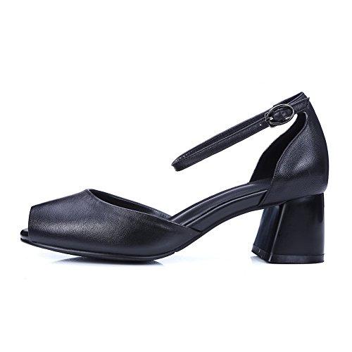 5 1TO9 Ouvert Bout Noir Femme 36 Noir 8P6TWga6qw