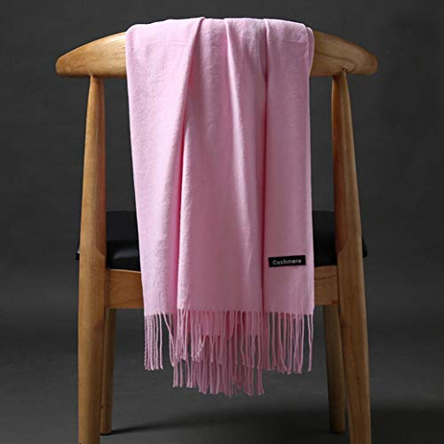 Boomdan Womens Large Soft Imitation cashmere Feel Shawls Wraps Light Scarf Multifunctional warm shawl (Pink) by Boomdan (Image #7)