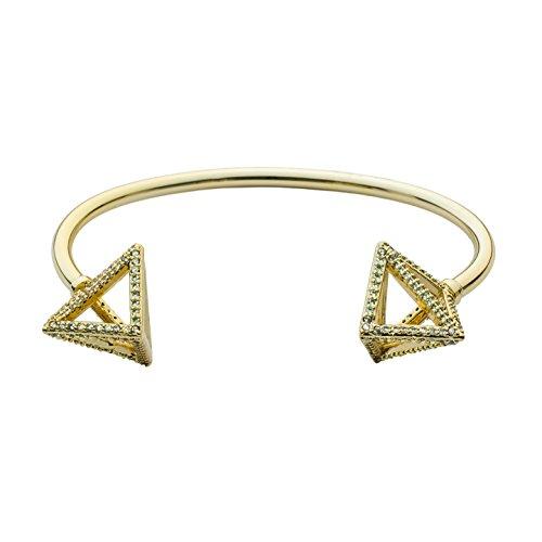 Brass 14K Gold Plated Pyramid Pavé -