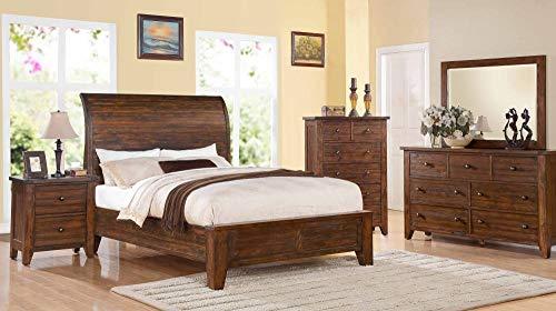 Modus Furniture Cally 4 Piece Low Profile Bedroom Set (Queen)