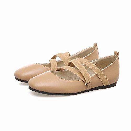 Shoes Falch Aprikose Pumps Mee Damen Gummiband Ballett