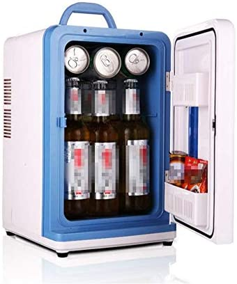 ZWH-ZWH 車の冷蔵庫、熱電ミニ冷蔵庫クーラーとウォーマー15リットルのホームオフィスの車寮やボートコンパクト&ポータブル-AC&DC電源コード、ミニ冷蔵庫(カラー、サイズ:フリーサイズ) 車載用冷蔵庫