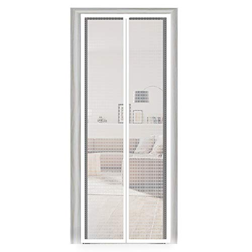 Thermal Door Curtain 38, Insulation EVA Magnetic Screen Temporary Plastic Door Curtain French Door Screen Fit Your Door Frame Size Up to 36x82 Inch (38x83 Inch, -