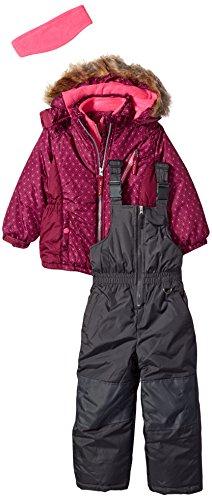 Pink Platinum Toddler Girls' Printed Super Snowsuit, Magenta, 2T