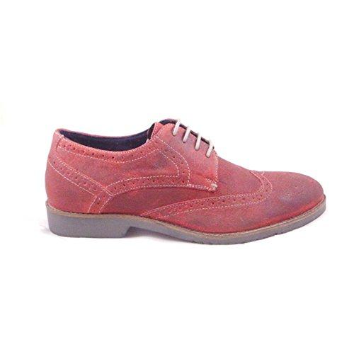 Lotus - Zapatos de cordones para hombre Rojo rojo