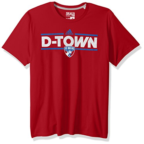 MLS FC Dallas Adult Men Dassler City Nickname Go-To Performance Tee, Large, Power Red