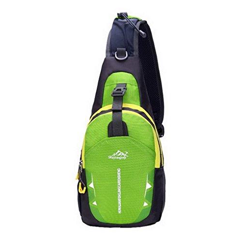 ACMEDE Sling Rucksack Umhängetasche Brusttasche für Täglichen Gebrauch,19*10*38,5cm Grün
