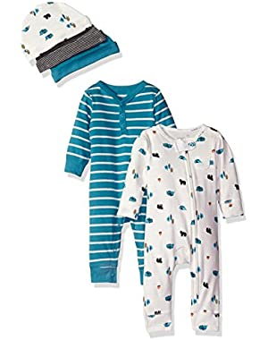 Baby 5-Piece Coverall and Cap Set