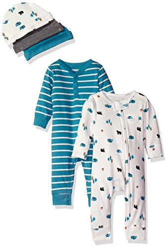 Carters Baby 5 Piece Coverall Cap