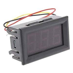 FJAMEI@ 3-dígitos LED rojo Medidor digital de voltaje (DC 0 ~ 99.9V)