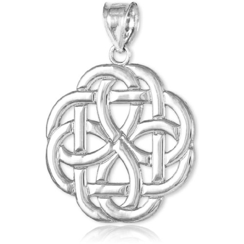 14k White Gold Triquetra Celtic Trinity Pendant by Unknown (Image #3)