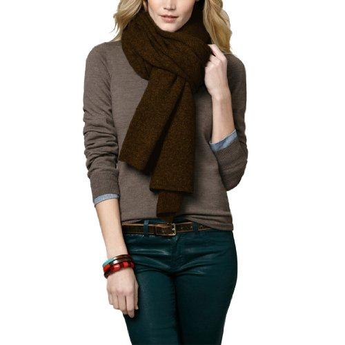 Parisbonbon Women's 100% Cashmere Classic Scarf Color Chocolate One Size by Parisbonbon (Image #4)