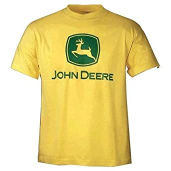 Basic John YellowAmazon ukClothing Medium T Deere Shirt co UjVzqSLMpG