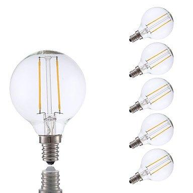 ywxlight 2 W E14 bombillas de filamento LED G16.5 2 COB 200 LM Blanco Cálido graduable V 6 piezas: Amazon.es: Iluminación