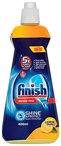 Finish Rinse Aid Shinier and drier dishes, Lemon Sparkle 400 ml (Pack of...