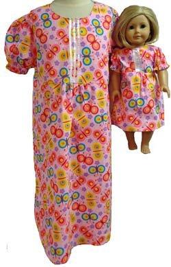 お揃いの女の子の人形、明るいピンクのナイトガウン、サイズ7。   B010E6K6ZS, メンズコスメのザス:9d3a22e0 --- arvoreazul.com.br