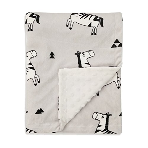 Infant Dog Blankets (Boritar Baby Receiving Blanket Super Soft Minky with Double Layer Dotted Backing, Lovely Zebra Printed 30