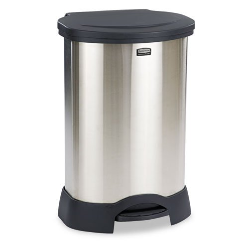 30 gal stainless trash can - 8