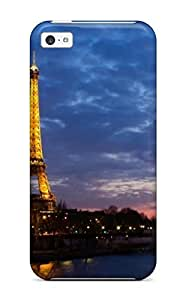 Awesome Eiffel Tower Sunset Flip Case With Fashion Design For Iphone 5c