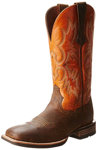 Ariat Men's Tombstone Western Cowboy Boot, Distressed Brown/Sunnyside, 9.5 M US ()