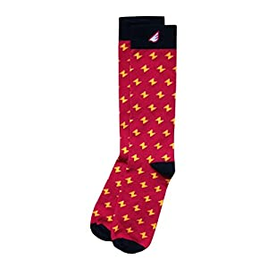Colorful Fun Patterned USA-made Dress Socks for Men - Unique Red 2-pack
