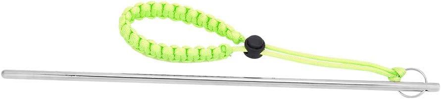 Bicaquu en Acier Inoxydable Plong/ée sous-Marine Safe Gear Maker Bruit Stick Rod Pointeur avec Lani/ère De Parachute