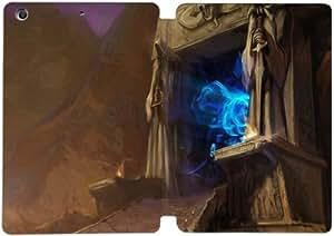 Cubierta de cuero y caja de la PC funda / soporte para funda de Apple iPad Mini 1,2,3 funda Con Magnetic reposo automático Función de despertador DIY por World Of Warcraft The Burning Crusade W8N4Qr7D8Jb