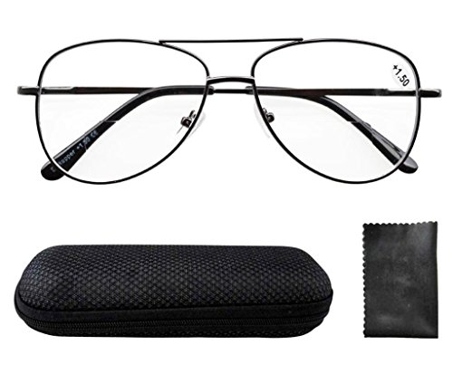Eyekepper Spring Hinges Polycarbonate Lens Pilot BiFocal Reading Glasses - Reading Bifocal Aviator Glasses