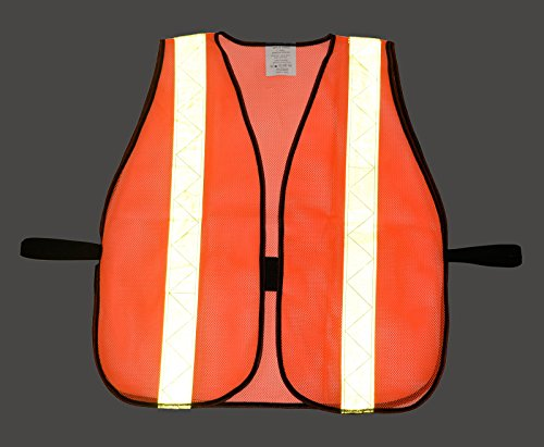 (Box Deal) RK 8011 Safety Vest with Reflective Stripes (50- Pack, Neon Orange) by RK Safety (Image #2)