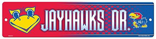 NCAA Kansas Jayhawks 16-Inch Plastic Street Sign Décor
