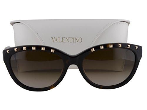 Valentino V622S Sunglasses Dark Havana w/Gray Brown Gradient Lens 215 V622/S