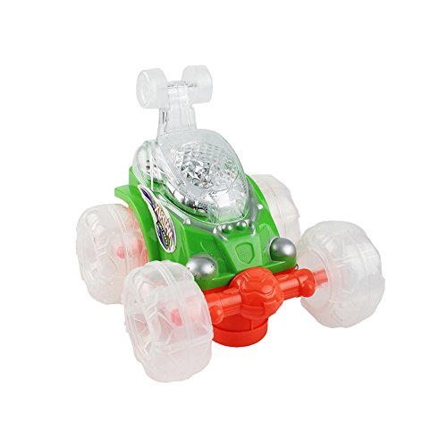 - Sealive Children Popular Magic Electric Musical RC Toy Car Automatic Steering Stunt Car for Kids,Battery Control,Portable Flashing Racing Car with LED lights and Music Function for 1-18 Years Toddlers
