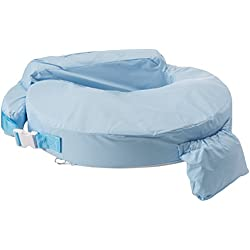 My Brest Friend Waterproof Nursing Pillow – Breastfeeding Pillow with Wipe Clean Antimicrobial Slipcover, Blue
