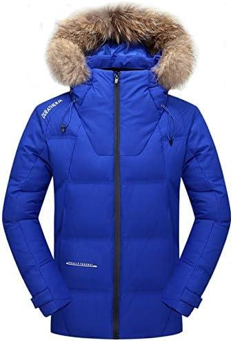 LFDJNZ Hommes Manteau d'hiver Épais Chaud De Mode en Plein Air Hommes vers Le Bas Veste Multi-Poche Conception Coupe-Vent Imperméable pour Les Vestes Blue